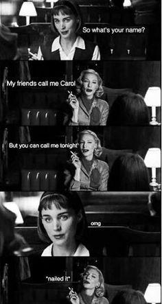 LOL!! #Carol #CarolMovie #Carolphilia social media spawns fan vids and tributes