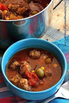 Bernika - mój kulinarny pamiętnik: Zupa meksykańska z klopsikami wg Gordona