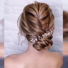 Amazing😍😍 – beautiful hair styles for wedding Dance Hairstyles, Fast Hairstyles, Headband Hairstyles, Braided Hairstyles, Hair Up Tutorials, Hair Upstyles, Wedding Hairstyles Tutorial, Hair Videos, Curly Hair Styles