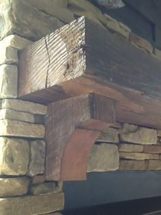 Antique Reclaimed Mantel and Corbels