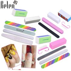 Belen Nail Art File Nail Buffers Durable Buffing Grit Sand Block For Manicure Natural Nail Buffer Files Nail Sponges Set Kit