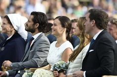 Swedish Royals attend Victoria's birthday - Sofia and Carl Philip with Madeleine and Chris O'Neil