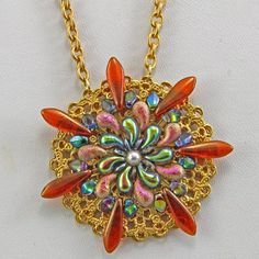 Handmade Jewelry Necklace Zoliduo Beaded Glass Blue Pink