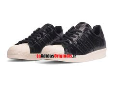 Adidas Originals Superstar 80s W - Chaussure Pas Cher Pour Homme/Femme Noir Coeur Blanc Cassé BB2055-Boutique Adidas Originals de Running (FR) - LaAdidasOriginals.fr