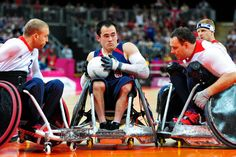 Team USA had a shaky start to game 1 at the 2012 London Paralympics... And came back to win 56-44