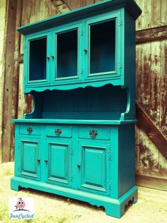 hutch repurpose - Inspiration for when I decide to paint mine
