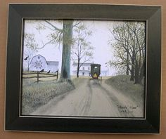Billy Jacobs Heading Home Amish Framed Country Pictures on eBay!
