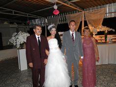 Noivos e pais da noiva