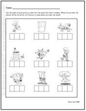 Printables Phoneme Segmentation Worksheets phoneme segmentation worksheets for kindergarten 1000 images about segmenting on pinterest phonemic awareness