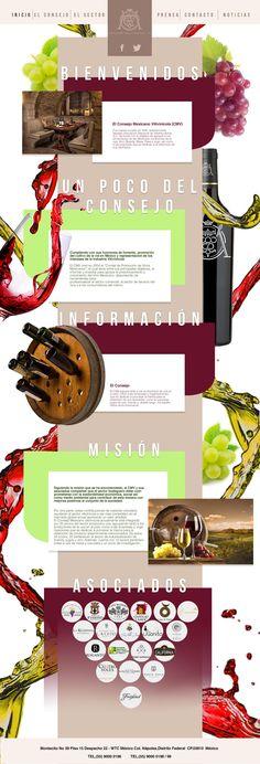 Propuesta de Sitio Web  y de logotipo para el Consejo Nacional Vitivinícola. Diseño Ramón Carrillo Agencia. DABmedia