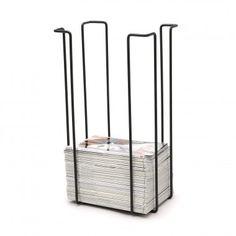Tall magazine rack i powder coated steel.   Zeitschriftenregal