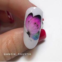 Animal Drawings, Summer Nails, Fun Nails, Nail Colors, Nail Art Designs, Hair Beauty, Painting, Nail Arts, Butterflies