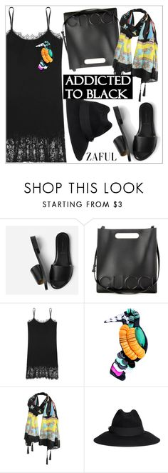 """Addicted to black"" by teoecar ❤ liked on Polyvore featuring Everlane, Gucci and Armani Collezioni"