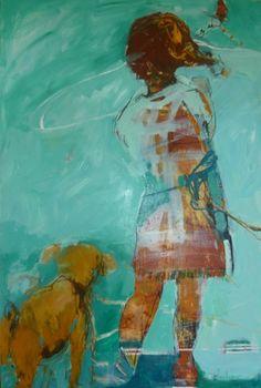'Go Fly a Kite' by Julie Hutchings via 500 Days of Art