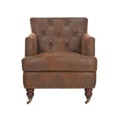 Behold the Regal Tufted Club Chair, an elegant study of mid-century décor spiked with a little bit of Eastern flair. Featuring rounded legs capped with wheels, a choice of fabric or leather upholstery,...  Find the Regal Tufted Club Chair, as seen in the A Magical Victorian Night Collection at http://dotandbo.com/collections/a-magical-victorian-night?utm_source=pinterest&utm_medium=organic&db_sku=97217