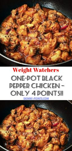This Southeast Asian One-Pot Black Pepper Chicken dish is a spicy and savory delight, with Skinny Recipes, Ww Recipes, Lunch Recipes, Asian Recipes, Crockpot Recipes, Chicken Recipes, Cooking Recipes, Healthy Recipes, Chicken Meals