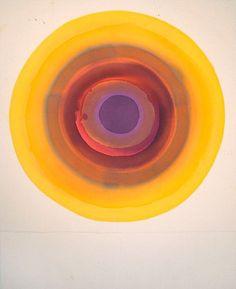 "topcat77: ""Eclispe Target"" Acrylic on unprimed canvas Liz Markus"