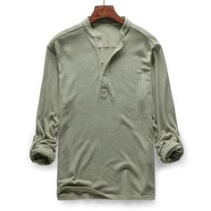 035ec856800 US  19.99 - Mens Knit Thick Breathable Solid Color Long Sleeve Fall Winter  Casual Buttons