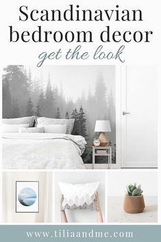 "Scandinavian bedroom decor - get the look with 20 unique etsy product all inspired by the minimalist, Nordic look to help you create a ""hygge"" atmosphere in your bedroom Scandinavian Style, Scandinavian Bedroom Decor, Nordic Bedroom, Home Decor Bedroom, Bedroom Ideas, Minimalist Scandinavian, Nordic Style, Bedroom Inspo, Bedroom Designs"