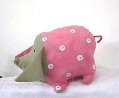 Pig, crib toy, nursery toy, bedtime toy $18