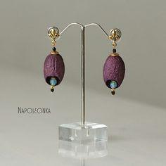 Earrings Silk cocoon Gold plated  earring Silkworm earring