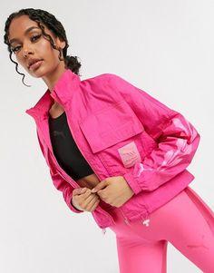 Puma evide track jacket in bright pink. #puma #jackets #activewear