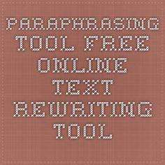 Text rewriting