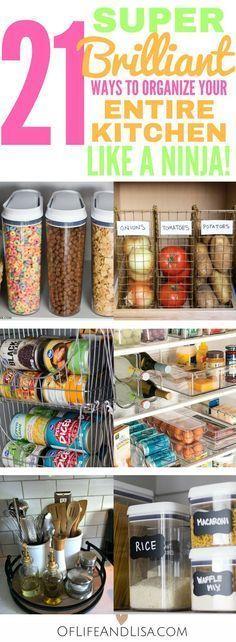 These DIY kitchen organization ideas are brilliant! Lauren B Montana #DIYHomeDecor