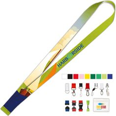 Polyester 4 Color Lanyard - Add a pop of color to your promotion! Available in a variety of different sizes and colors, pick your lanyard color with your choice of hook for one low price. These polyester four color lanyards will ship with a split ring accessory unless otherwise specified. Optional upgrades are available. A great giveaway, have your four color process logo or custom message imprinted for maximum brand awareness. Ideal for colleges, trade shows and much more! #propelpromo