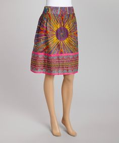 Take a look at the Fuchsia Sunrise SKirt on #zulily today!