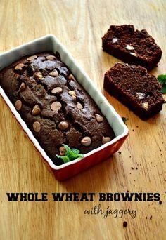whole wheat brownie-atta jaggery brownie recipe