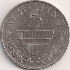 Wertseite: Münze-Europa-Mitteleuropa-Österreich-Schilling-5.00-1968-2001 Austria, Coins, Humor, Personalized Items, Art, Childhood Memories, Money, Birthday, Art Background