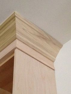 Custom Trim & Crown for Ikea Cabinets using edge banded plywood and hardwood