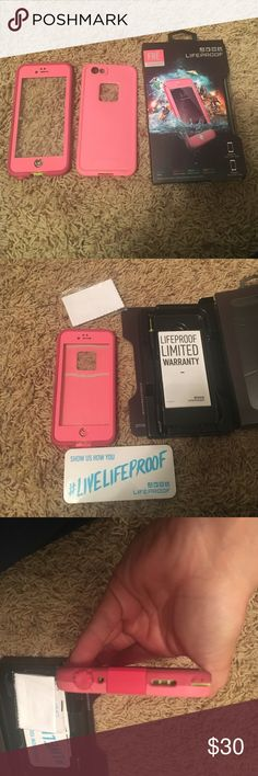 Lifeproof case iPhone 6/6s Lifeproof case iPhone 6/6s. Bought from another posher and just don't use it. Comes with everything in package. Used once by me and a few times from the person I bought it from. Waterproof LifeProof Accessories Phone Cases