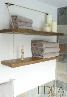 DIY - RECLAIMED WOOD BATHROOM SHELVES | EDEA SMITH