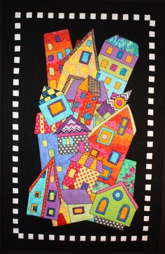 """Dwellings, 31 x 49"""", quilt pattern by BJ Designs"""