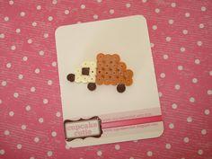 The cutest wee hama bead Hedgehog pin Perler by cupcakecutie1, $6.00