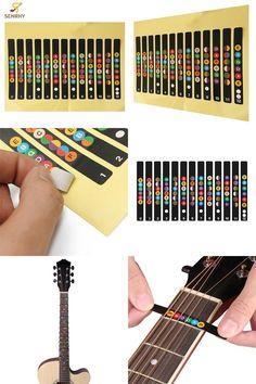 #Guitar Fretboard Note Decals #Beginners Fingerboard Sticker Label Map Frets Scale
