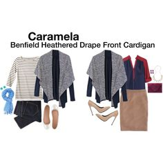 Love this cardigan, and love the outfit on the left in particular