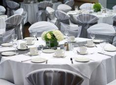 Silver Wedding Reception Tables
