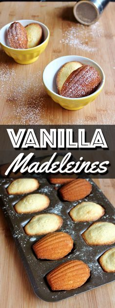 These classic Vanilla Madeleines are buttery and delicious. They make the perfect afternoon snack with tea or the sweetest ending to a meal.   wildwildwhisk.com