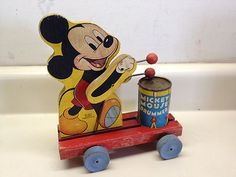 1940 Fisher Price Mickey Mouse Pull Toy