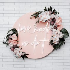 This blush pink neon sign is such a cute way to welcome your wedding guests! Decoration Inspiration, Wedding Inspiration, Wedding Trends, Wedding Designs, Pink Neon Sign, Neon Signs, Bridesmaid Boxes, Bridesmaids, Melbourne Wedding