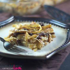 Gluten-Free Vegan Noodle Kugel Dessert {Gluten-Free, Dairy-Free, Egg-Free, Vegan, Refined Sugar-Free}