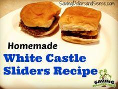 Homemade White Castle Sliders