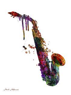 Saxophone 2 by Mark Ashkenazi Graphic Art