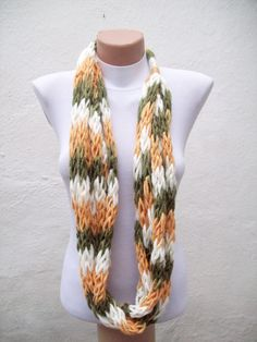 finger knitted scarf! This would take a while but it's so worth it!!!