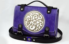Bogdan Deliu - Handmade Leather Bag - Wheely Purple Haze