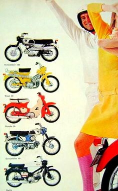 Honda-Werbung der 60er Jahre.
