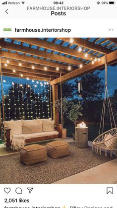 Backyard Patio Designs, Backyard Landscaping, Cool Backyard Ideas, Outdoor Rooms, Outdoor Living, Outdoor Decor, Backyard Paradise, Backyard Makeover, Back Patio